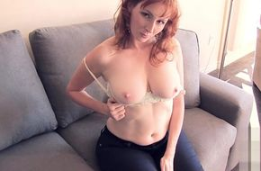 Topless redheads in jeans