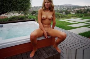 Hot tub naked