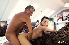 Dad and son fuck daughter